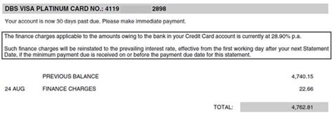 Your minimum due is $20 so you send in your payment. Cards FAQs | DBS Singapore