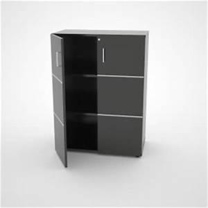 Meuble Avec Serrure : meuble blanc de rangement pour bureau ferm avec serrure etag re amovible ~ Teatrodelosmanantiales.com Idées de Décoration