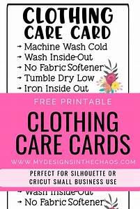 printable, clothing, care, cards