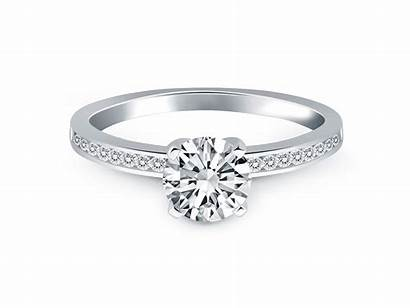 Diamond Band Channel Ring Gold Engagement 14k