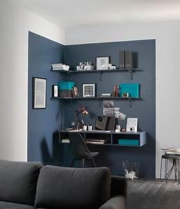 comment amenager un salon a aire ouverte deconome With peindre un pan de mur en couleur 6 une cuisine noire pour une deco lumineuse travaux