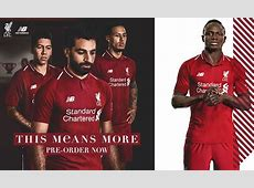 201819 LFC home kit revealed preorder now Liverpool FC