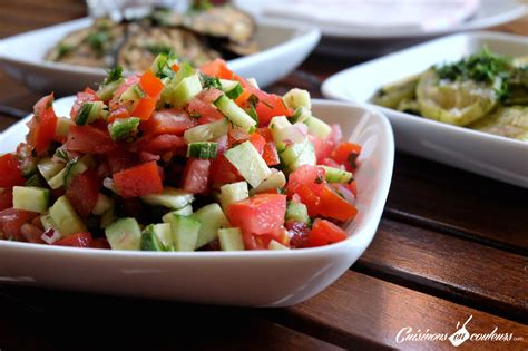 cuisine marocaine salade chlada salade de tomates et concombre à la marocaine