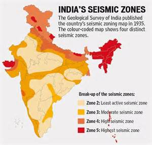 India Earthquake Zone Map