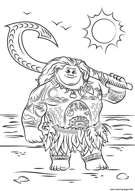 printable disney coloring pages print from moana disney coloring pages disney