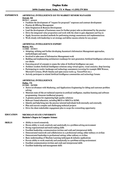 Artificial Intelligence Resume Samples | Velvet Jobs