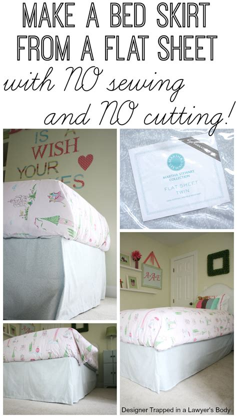 no sew bed skirt tutorial prepare to your mind blown