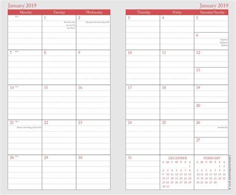 day slim planner calendar club uk