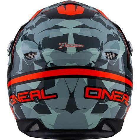 camo motocross oneal 7 series camo grey orange motocross helmet atv moto