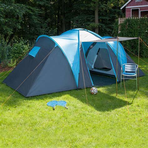 toile de tente 2 chambres skandika hammerfest 4 person family tent camping blue ebay