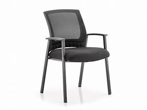 Dynamo Metro Stackable Mesh Visitor Chair in Black