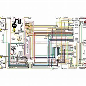 Chevy Color Laminated Wiring Diagram  1958-1974