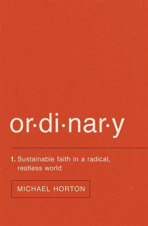 book review ordinary  michael horton marks