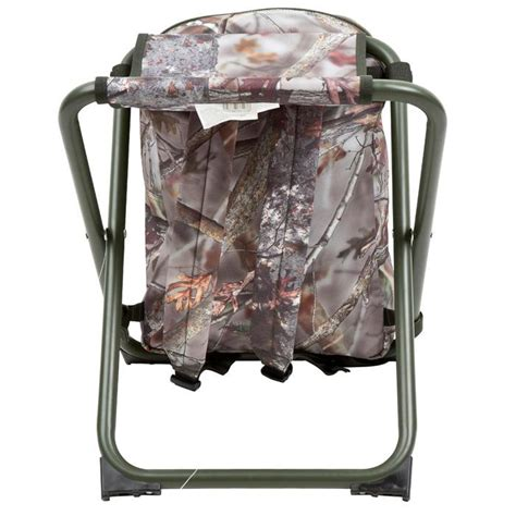 solognac chaise chasse sac  dos camouflage marron decathlon