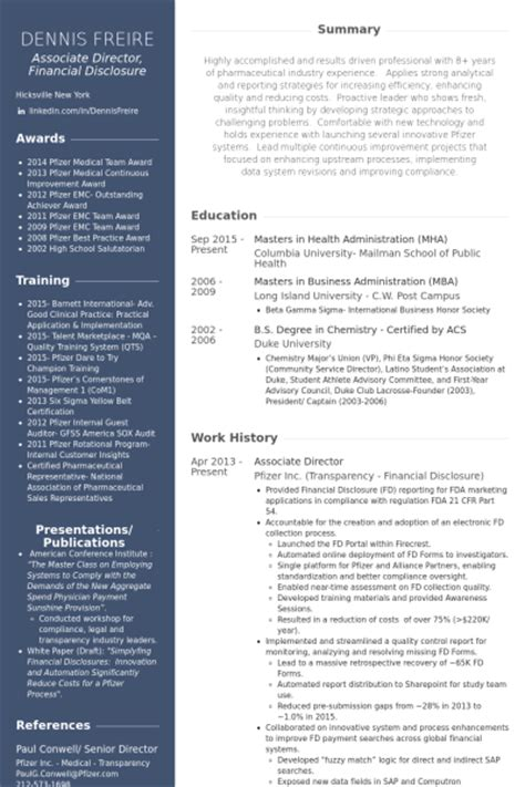Associate Creative Director Resume by Associate Director Resume Sles Visualcv Resume Sles Database