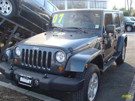 jeep grey blue 2007 steel blue metallic jeep wrangler unlimited sahara