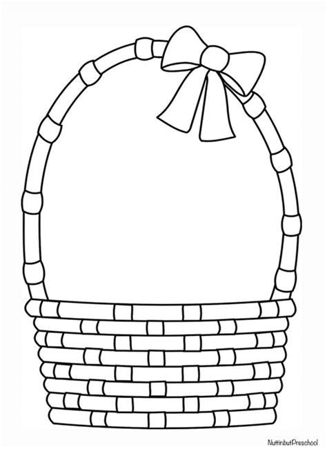 easter basket coloring pages easter basket pattern nuttin but preschool