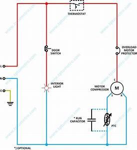 Wiring Diagram Refrigerator    Kelistrikan Kulkas Satu