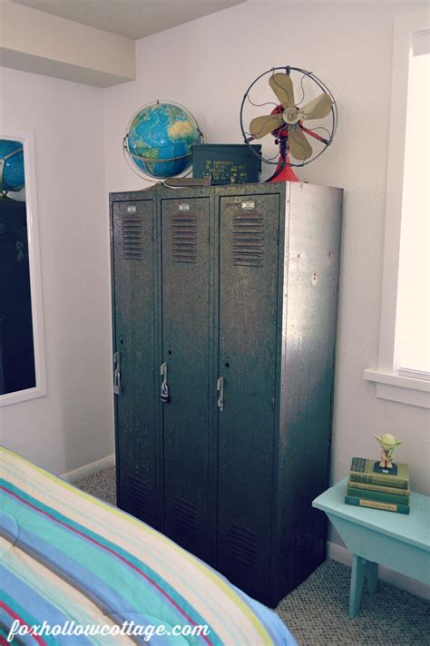 locker for bedroom teen boy bedroom makeover part one fox hollow cottage 12146