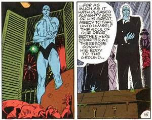 Does Dr. Manhattan act as a figure of the reader in Alan ...