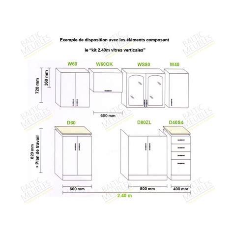 hauteur meuble cuisine cuisine en image
