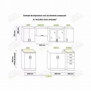 hauteur meuble cuisine cuisine en image With hauteur plan de cuisine