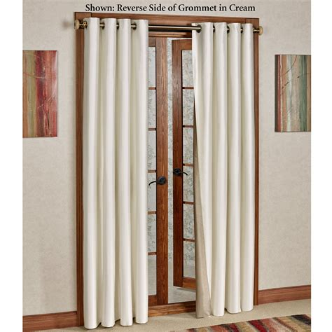 reflections faux silk insulated grommet curtains