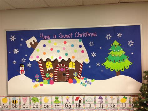 christmas bulletin board gingerbread house bulletin