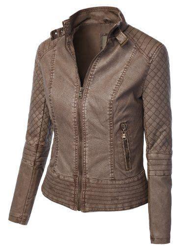 stitching biker jackets and zip ups on