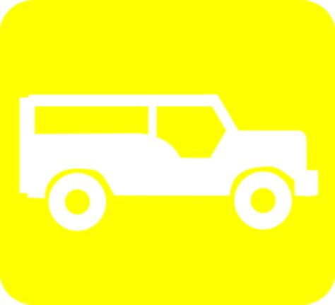 yellow jeep clipart yellow truck icon clip art at clker com vector clip art