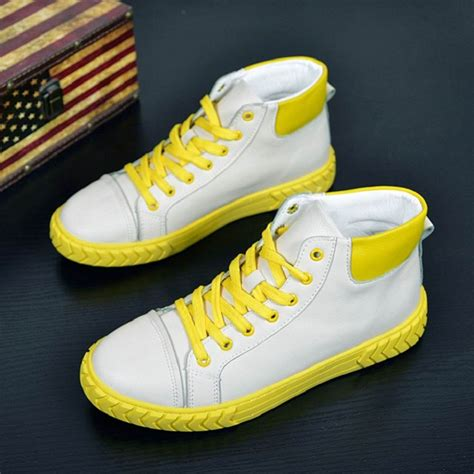 Errfc New Arrival Fashion Mens Yellow Casual Comfort Shoes