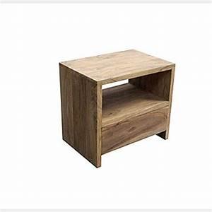 Bedside Table Natural Rosewood Timber Furniture Loft