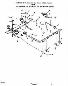 Roper Gas Range Top Burner Parts