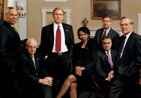 Bush Administration Cabinet by An History Of The Bush White House Vanity Fair