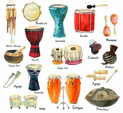 Instruments Percussion Traditional Different Brazil Drum Ethnic
