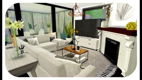 sims  house build cozy modern family house cc