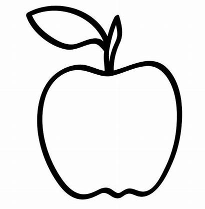Apple Fruit Clipart Coloring Pages Clip Orchard