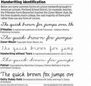 Most college students print as cursive writing starts to ...