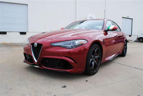 Alfa Romeo Giulia Italian Flag Vinyl Accents  Car Wrap City