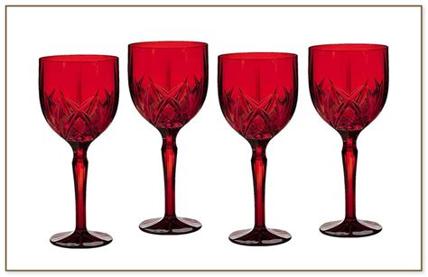 Red Colored Wine Glasses