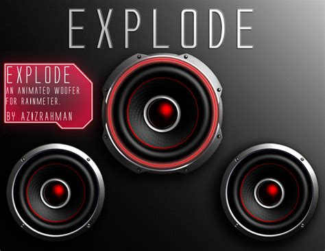 Rainmeter Animated Wallpaper - explode animated live woofer skin for rainmeter by