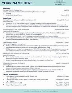Gonzaga University Sample Student Résumé