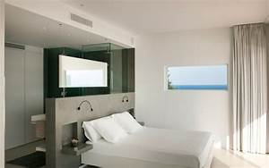 chambre avec salle de bain fusion d39espaces harmonieuse With chambre avec salle de bain ouverte et dressing