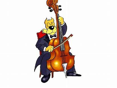 Cartoon Dog Cello Clip Clipart Playing Instruments