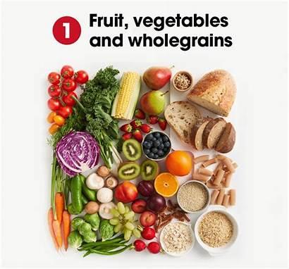 Healthy Eating Heart Fruit Vegetables Eat Balance