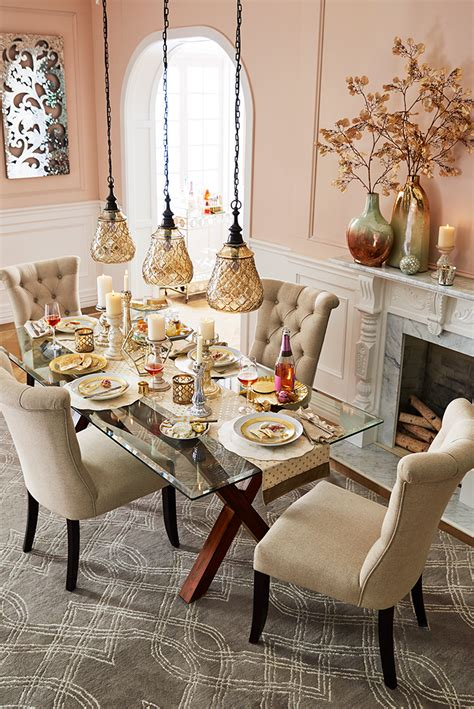 elegant touches add    thanksgiving dinner