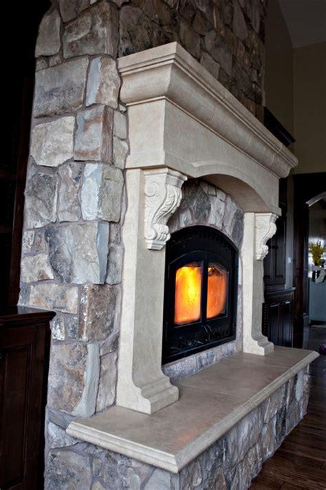 Custom Cast Stone Concrete Fireplace Mantel Surrounds