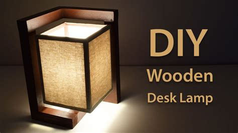 build  wooden desk lamp diy project creativity