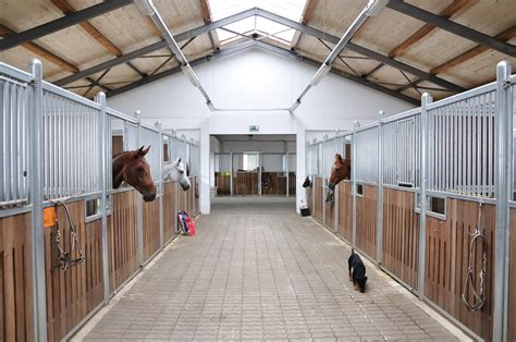horse stables barn internal ventilation stable horses stalls equestrian stall shutterstock paarden sheds indoor modern equine equimed supplied fitted pb