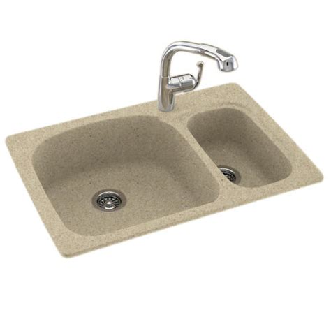 Swan Sinks At Menards by Swan Large Small 33 Quot W X 22 Quot D Bowl Kitchen Sink At
